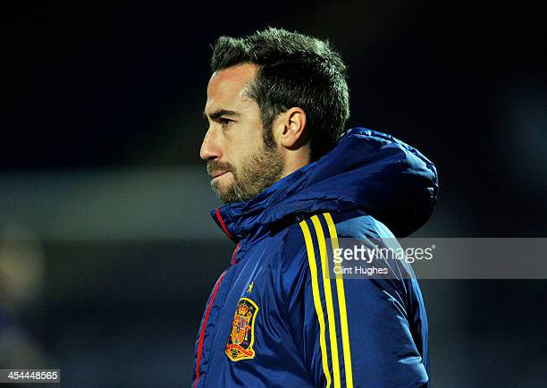 Jorge Vilda Head Coach of Spain during the UEFA European Women's Under 17 Championship Final match between Germany and Spain at the Proact Stadium on...