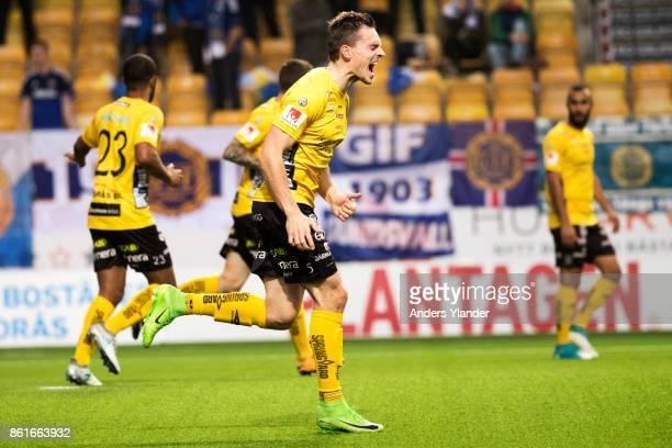 Jorgen Horn of IF Elfsborg reacts during the Allsvenskan match between IF Elfsborg and GIF Sundsvall at Boras Arena on October 15, 2017 in Boras,...