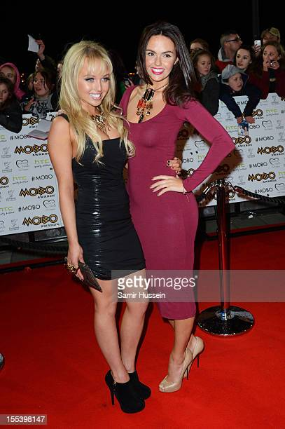 Jorgie Porter and Jennifer Metcalfe attend the 2012 MOBO awards at Echo Arena on November 3 2012 in Liverpool England