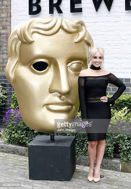Jorgie Porter arrives for the British Academy Television Craft Awards at The Brewery on April 24 2016 in London England