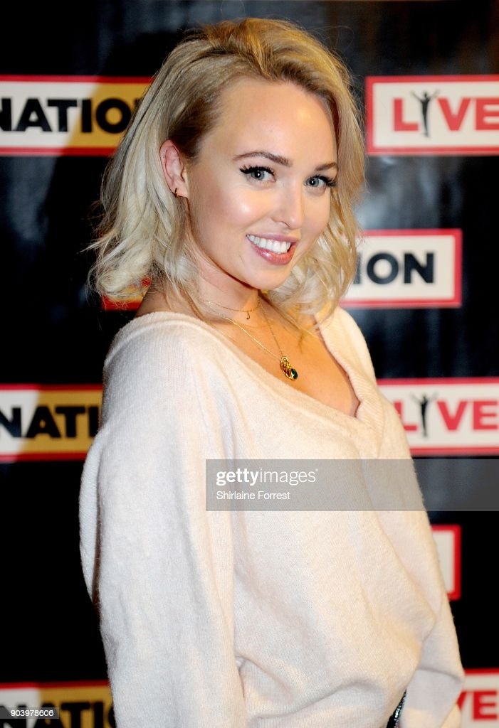 Jorgie Porter attends Chris Rock's celebrity gala on the opening night of his UK tour at Manchester Arena on January 11, 2018 in Manchester, England.