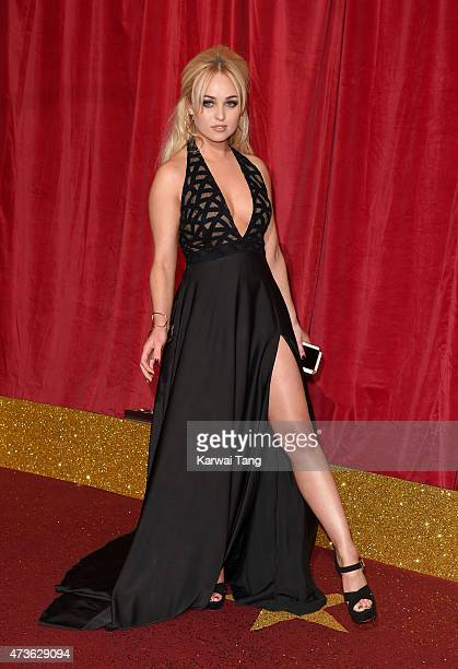 Jorgie Porter attends the British Soap Awards at Manchester Palace Theatre on May 16 2015 in Manchester England