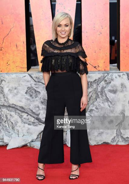 Jorgie Porter attends the European Premiere of 'Rampage' at Cineworld Leicester Square on April 11 2018 in London England