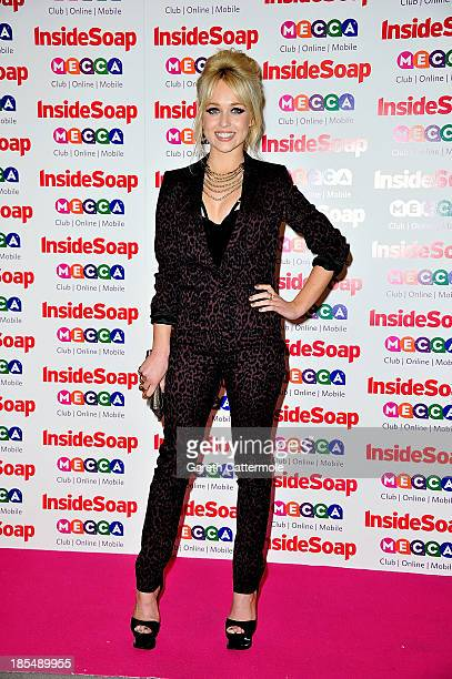 Jorgie Porter attends the Inside Soap Awards at Ministry Of Sound on October 21 2013 in London England