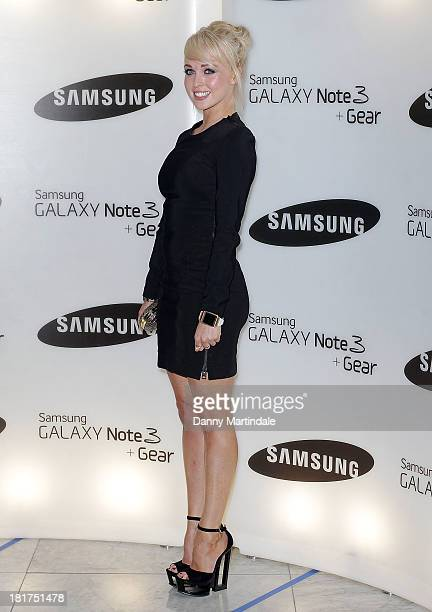 Jorgie Porter attends the launch of Samsung's Galaxy Gear and Galaxy Note 3 at ME Hotel on September 24 2013 in London England
