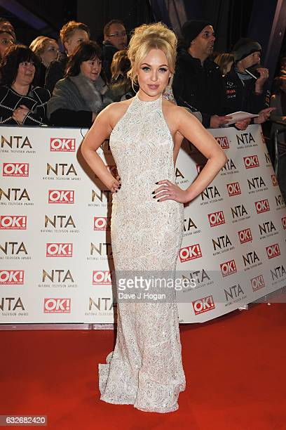 Jorgie Porter attends the National Television Awards at Cineworld 02 Arena on January 25 2017 in London England