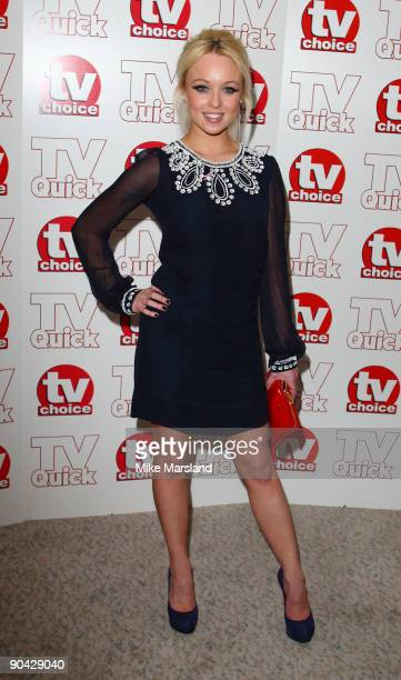 Jorgie Porter attends the TV Quick Tv Choice Awards at The Dorchester on September 7 2009 in London England
