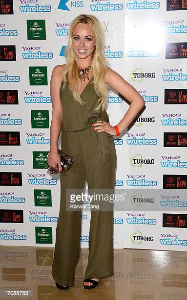 Jorgie Porter attends the Yahoo Wireless preparty at The Mayfair Hotel on June 19 2013 in London England