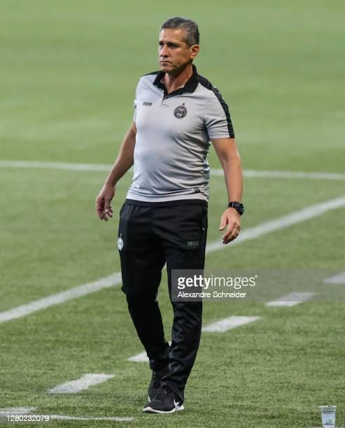 Jorginho, head coach of Coritiba looks on during the match against Coritiba as part of Brasileirao Series A 2020 at Allianz Parque on October 14,...