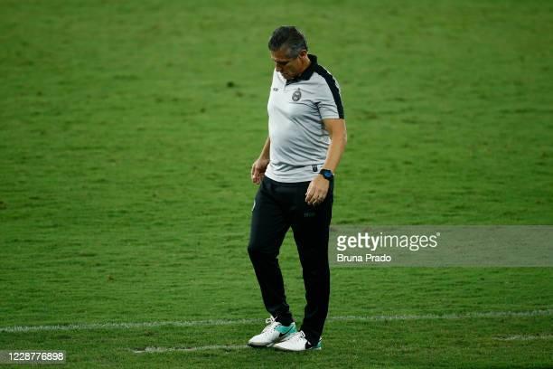 Jorginho head coach of Coritiba walks during the match between Fluminense and Coritiba as part of the Brasileirao Series A at Engenhao Stadium on...