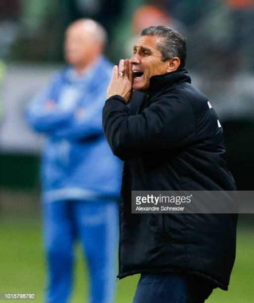 Jorginho head coach of Vasco da Gama in action during the match between Palmeiras and Vasco da Gama for the Brasileirao Series A 2018 at Allianz...