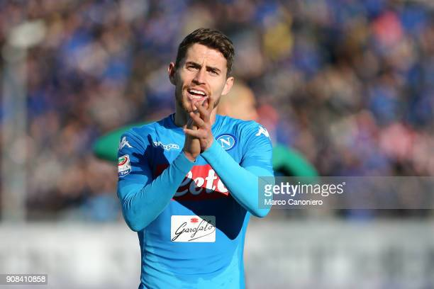 Jorginho Jorge Luiz Frello Filho of Ssc Napoli celebrate et the end of the Serie A football match between Atalanta Bergamasca Calcio and Ssc Napoli...