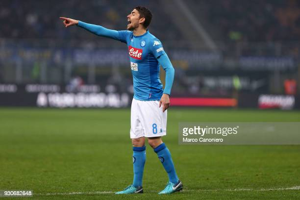 Jorginho Jorge Luiz Frello Filho of Ssc Napoli gestures during the Serie A football match between Fc Internazionale and Ssc Napoli The final score...