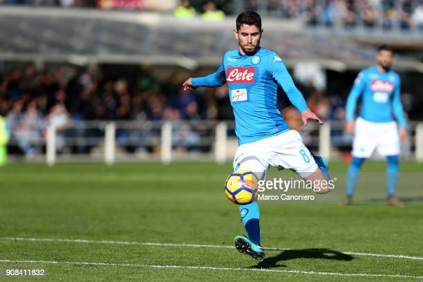 Jorginho Jorge Luiz Frello Filho of Ssc Napoli in action during the Serie A football match between Atalanta Bergamasca Calcio and Ssc Napoli Ssc...