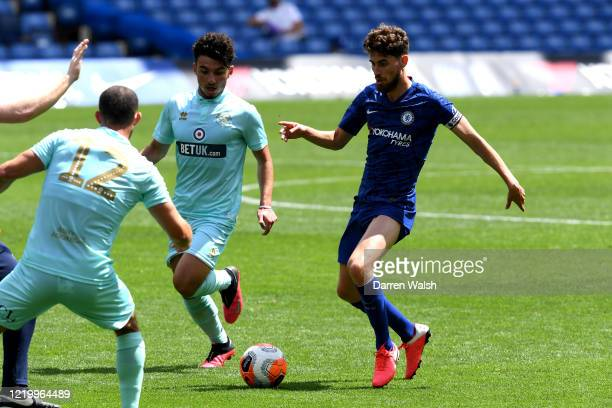 Jorginho of Chelsea during a friendly match between Chelsea and Queens Park Rangers at Stamford Bridge on June 14 2020 in London England