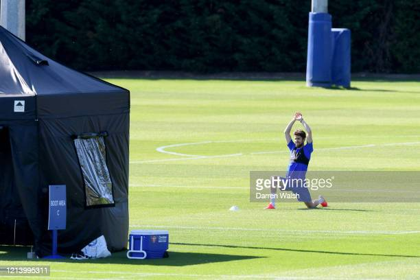 Jorginho of Chelsea during a self isolating small group training session at Chelsea Training Ground on May 19 2020 in Cobham England