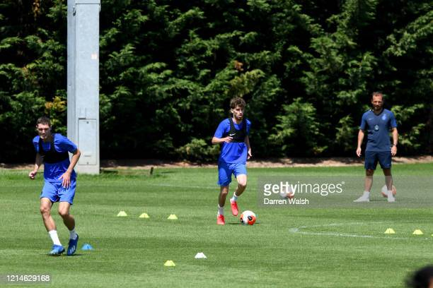 Jorginho of Chelsea during a small group training session at Chelsea Training Ground on May 22 2020 in Cobham England