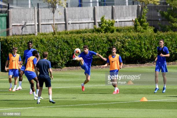 Jorginho of Chelsea during a training session at Chelsea Training Ground on June 2 2020 in Cobham England