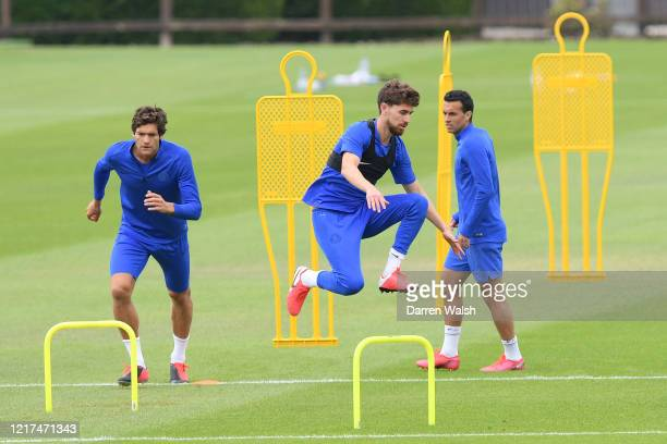 Jorginho of Chelsea during a training session at Chelsea Training Ground on June 3 2020 in Cobham England