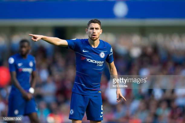 Jorginho of Chelsea during the Premier League match between Chelsea FC and AFC Bournemouth at Stamford Bridge on September 1 2018 in London United...