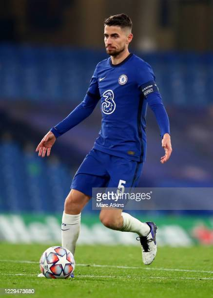 Jorginho of Chelsea during the UEFA Champions League Group E stage match between Chelsea FC and Stade Rennais at Stamford Bridge on November 4, 2020...