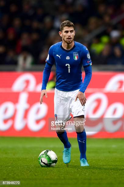 Jorginho of Italy in action during the FIFA 2018 World Cup Qualifier PlayOff Second Leg between Italy and Sweden The match ended in a 00 tie