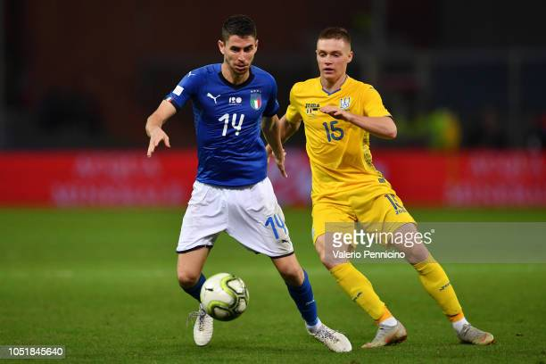 Jorginho of Italy in action during the International Friendly match between Italy and Ukraine on October 10 2018 in Genoa Italy