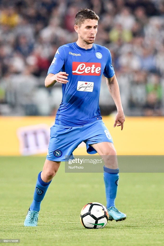 Jorginho of Napoli during the Serie A match between Juventus and Napoli at Allianz Stadium, Turin, Italy on 22 April 2018.