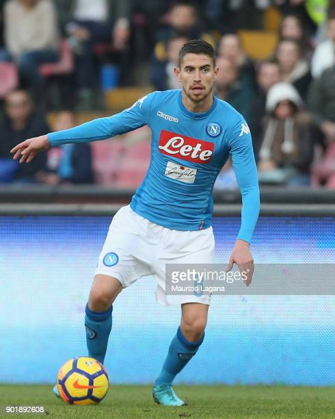 Jorginho of Napoli during the serie A match between SSC Napoli and Hellas Verona FC at Stadio San Paolo on January 6 2018 in Naples Italy