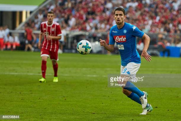 Jorginho of Napoli in action during the Audi Cup 2017 match between SSC Napoli and FC Bayern Muenchen at Allianz Arena on August 2 2017 in Munich...