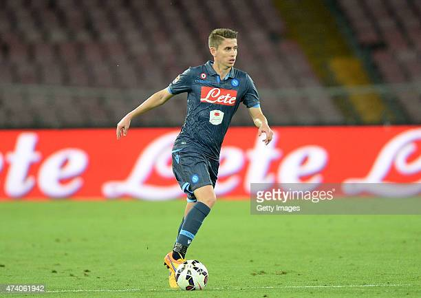 Jorginho of Napoli in action during the Serie A match between SSC Napoli AC Cesena at Stadio San Paolo on May 18 2015 in Naples Italy