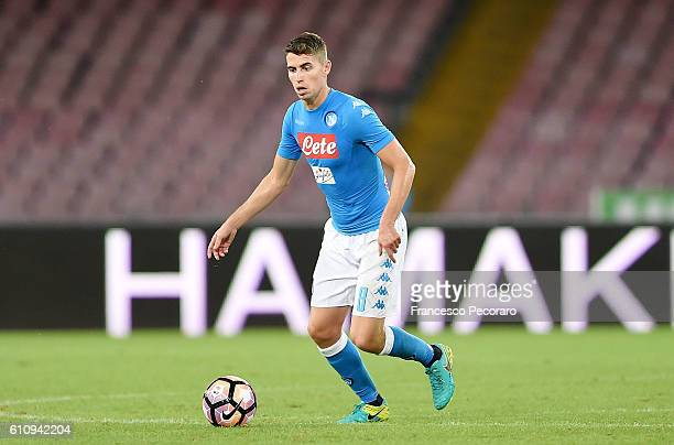 Jorginho of Napoli in action during the Serie A match between SSC Napoli and AC ChievoVerona at Stadio San Paolo on September 24 2016 in Naples Italy