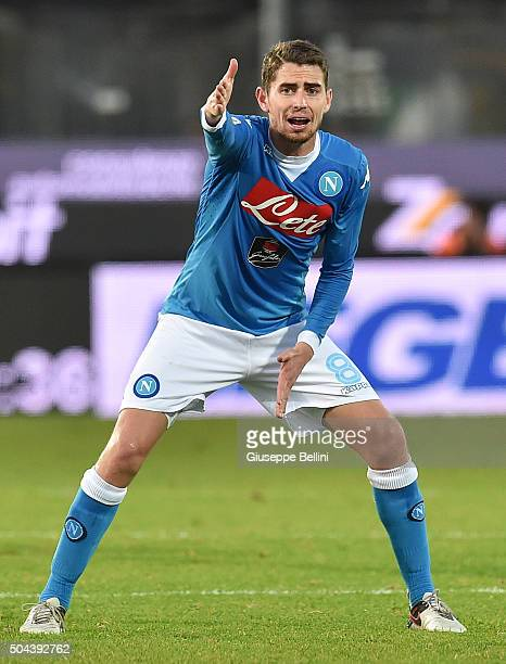 Jorginho of SSC Napoli during the Serie A match between Frosinone Calcio and SSC Napoli at Stadio Matusa on January 10 2016 in Frosinone Italy