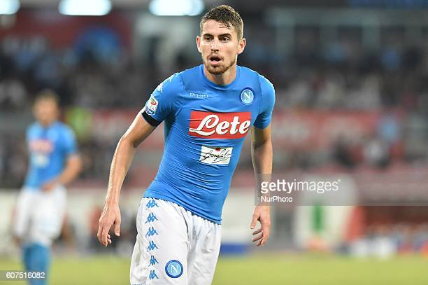 Jorginho of SSC Napoli during the Serie A TIM match between Napoli and Bologna at Stadio San Paolo Naples Italy on 17 September 2016