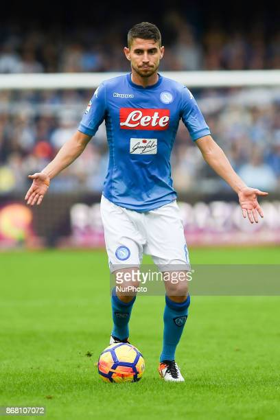 Jorginho of SSC Napoli during the Serie A TIM match between SSC Napoli and US Sassuolo at Stadio San Paolo Naples Italy on 29 October 2017