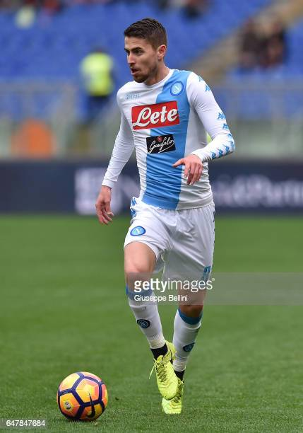 Jorginho of SSC Napoli in action during the Serie A match between AS Roma and SSC Napoli at Stadio Olimpico on March 4 2017 in Rome Italy