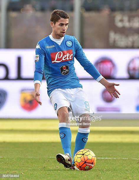 Jorginho of SSC Napoli in action during the Serie A match between Frosinone Calcio and SSC Napoli at Stadio Matusa on January 10 2016 in Frosinone...