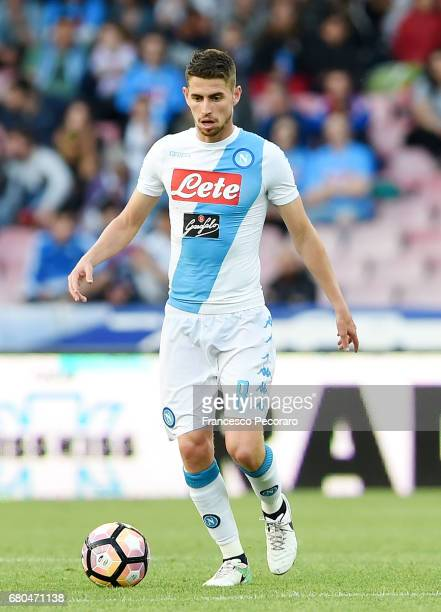 Jorginho of SSC Napoli in action during the Serie A match between SSC Napoli and Cagliari Calcio at Stadio San Paolo on May 6 2017 in Naples Italy