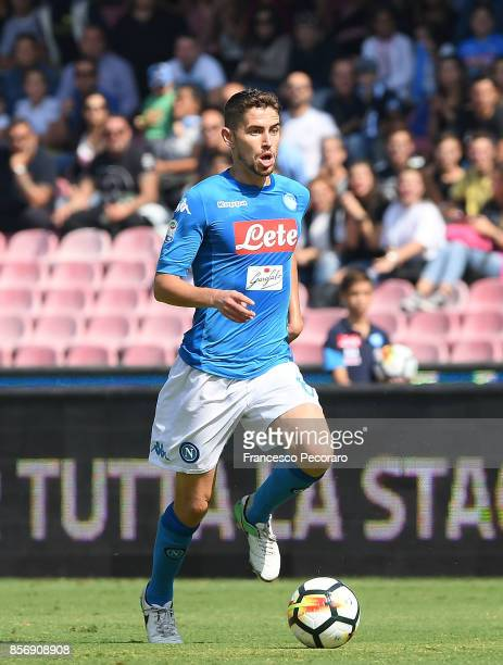 Jorginho of SSC Napoli in action during the Serie A match between SSC Napoli and Cagliari Calcio at Stadio San Paolo on October 1 2017 in Naples Italy