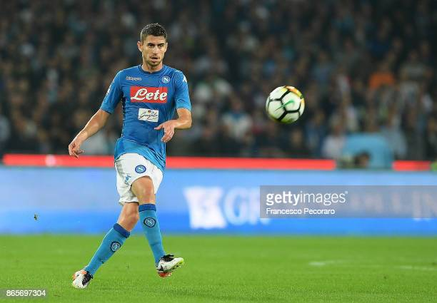 Jorginho of SSC Napoli in action during the Serie A match between SSC Napoli and FC Internazionale at Stadio San Paolo on October 21 2017 in Naples...