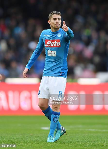 Jorginho of SSC Napoli in action during the Serie A match between SSC Napoli and ACF Fiorentina at Stadio San Paolo on December 10 2017 in Naples...