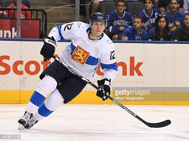 Jori Lehtera of Team Finland skates against Team Sweden during the World Cup of Hockey 2016 at Air Canada Centre on September 20, 2016 in Toronto,...