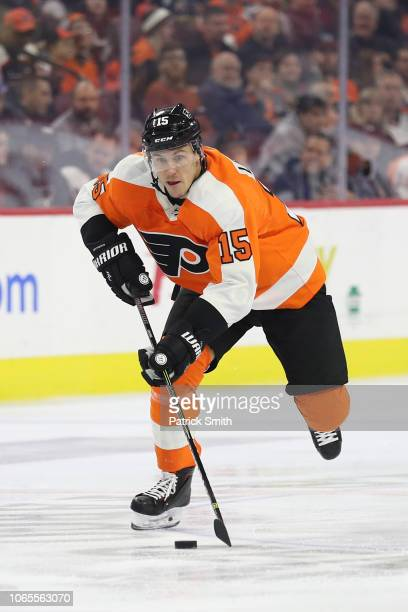 Jori Lehtera of the Philadelphia Flyers in action against the Florida Panthers during the second period at Wells Fargo Center on November 13, 2018 in...