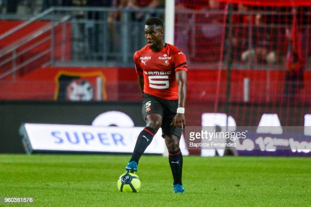 Jorid Gnanon of Rennes during the Ligue 1 match between Stade Rennes and Montpellier Herault SC at Roazhon Park on May 19 2018 in Rennes
