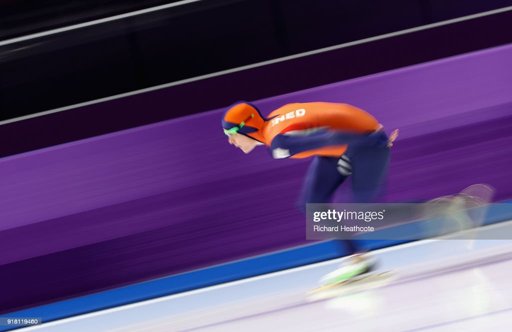 Jorien Ter Mors of the Netherlands competes during the Ladies' 1000m Speed Skating on day five of the PyeongChang 2018 Winter Olympics at Gangneung Oval on February 14, 2018 in Gangneung, South Korea.