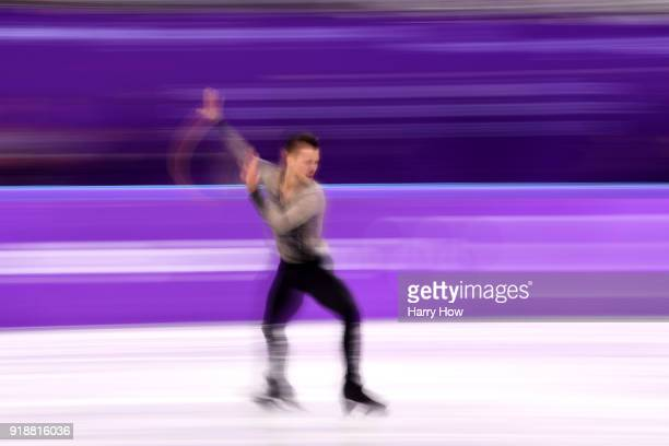 Jorik Hendrickx of Belgium competes during the Men's Single Skating Short Program at Gangneung Ice Arena on February 16, 2018 in Gangneung, South...