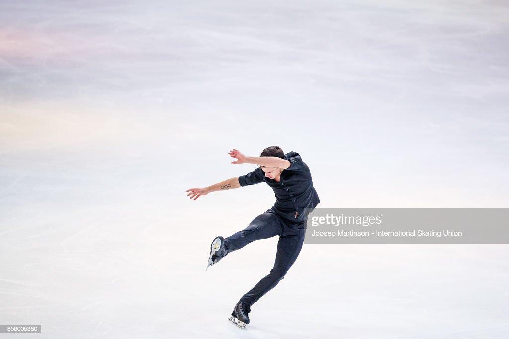Jorik Hendrickx of Belgium performs in the Gala Exhibition during the Nebelhorn Trophy 2017 at Eissportzentrum on September 30, 2017 in Oberstdorf, Germany.