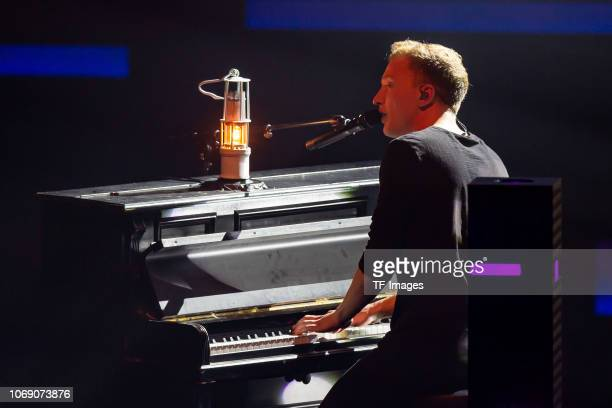 Joris Buchholz performs on stage at the 1Live Krone radio award at Jahrhunderthalle on December 6 2018 in Bochum Germany