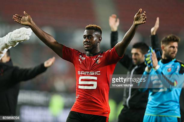 Joris Gnagnon of Rennes during the French Ligue 1 match between Rennes and Toulouse at Roazhon Park on November 25, 2016 in Rennes, France.