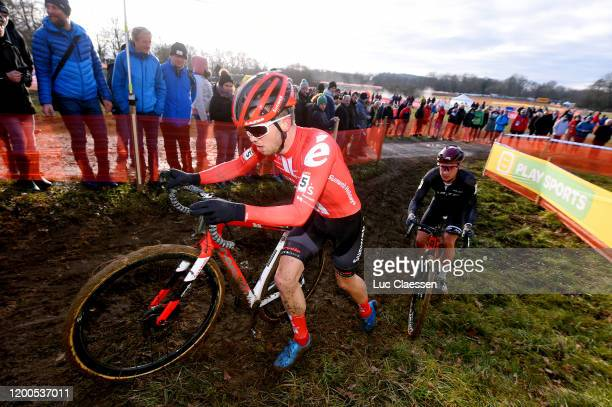 Joris Nieuwenhuis of The Netherlands and Team Sunweb / Sascha Weber of Germany / during the 15th World Cup Nommay, Men Elite / @UCI_CX /...